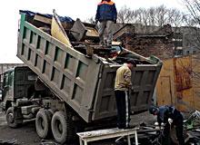 Вывоз мусора после пожара